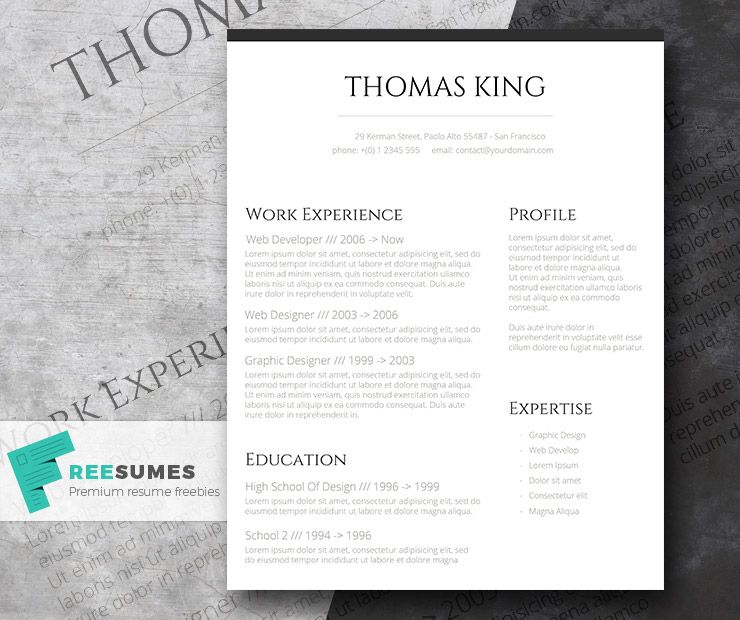 Professional clean a basic but stylish resume layout resume professional clean a basic but stylish free resume layout cv templateresume yelopaper Gallery