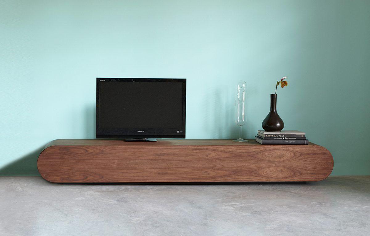 Tv Meubel Design.Design Tv Meubel Notenhout Rknl Meubelstudio Notenhout