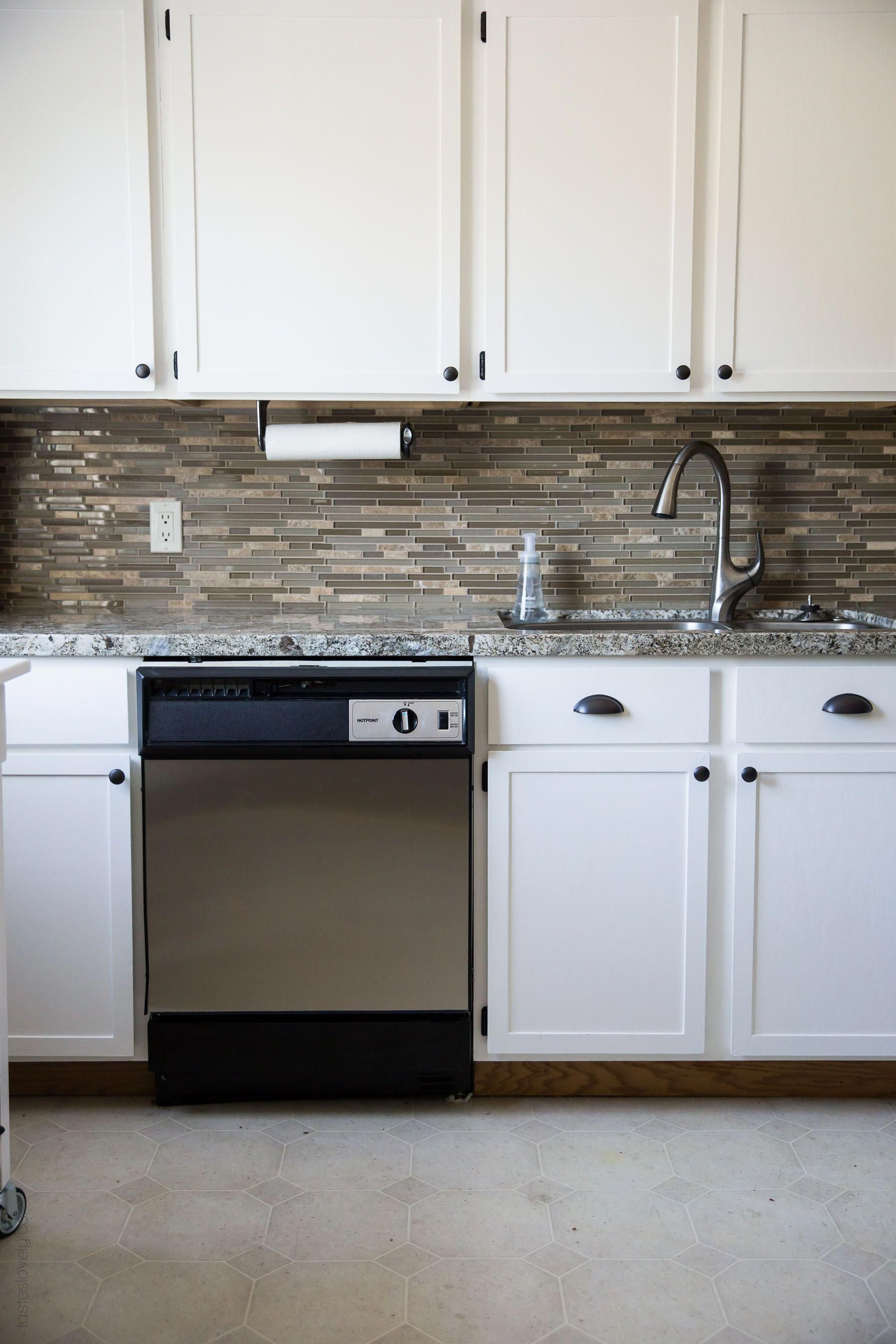 Our diy kitchen remodel diy painting oak cabinets white