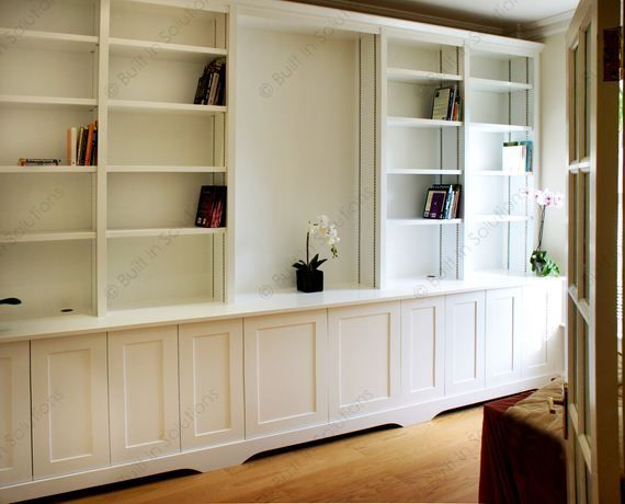 Large Built In Cupboards And Bookcases Traditional Style With Radiator Cabinet