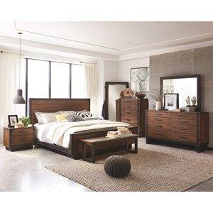 Ellison+Industrial+Queen+Bedroom+Group | Rustic industrial ...