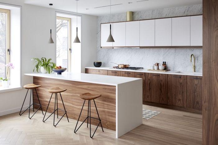 41+ Idee cuisine blanche et bois ideas in 2021