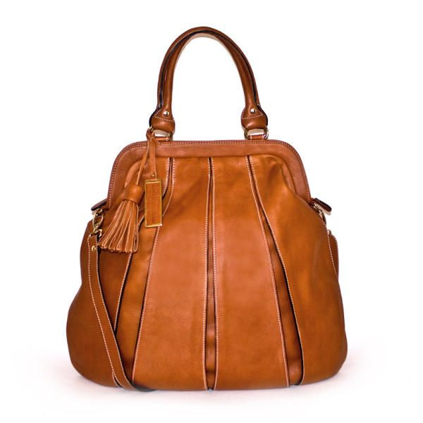 Balloon Zip Tote Bag In Cognac By Tsm The Swedish Model