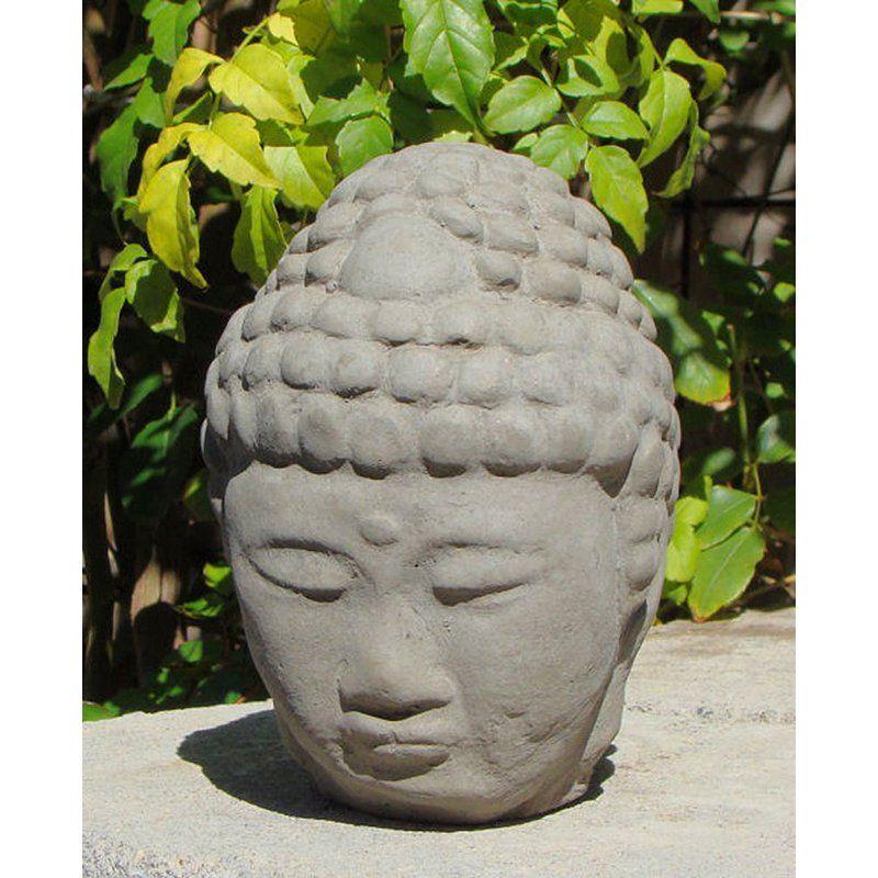Buddha Head Garden Statue | From Hayneedle.com