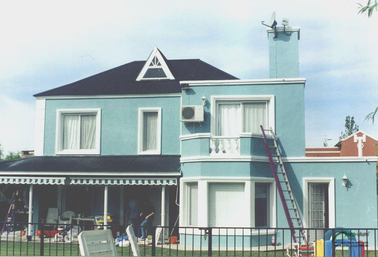 Tonos de azul fachadas pinterest for Ideas para pintar exteriores de casas