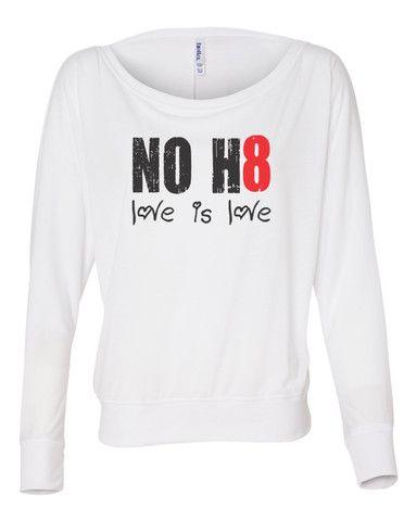 Love Over H8 Apparel Logo Black Hoodie