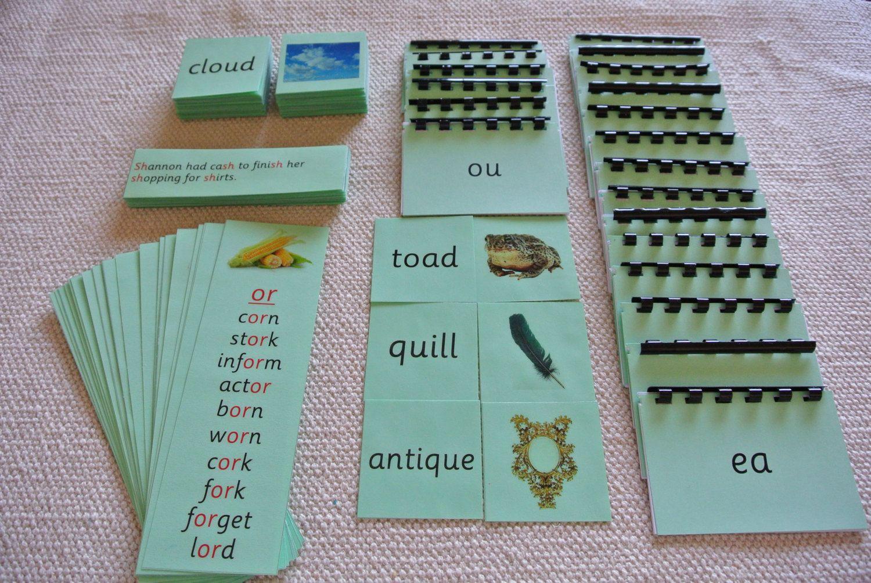 Montessori Language Basic Green Series Phonics by Papyruswork ...