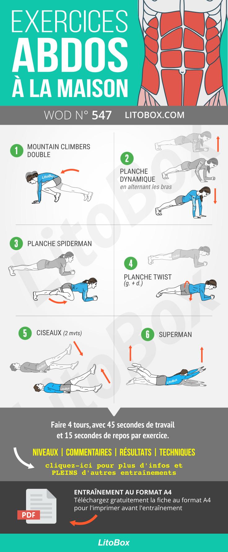 Exercices dabdos à la maison (PDF à télécharger)