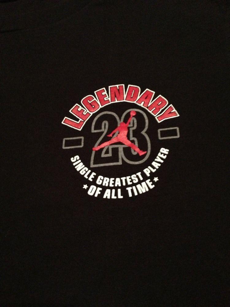 Vintage NIKE Michael Legendary AIR JORDAN chicago bulls nba Gray Tag T  Shirt L