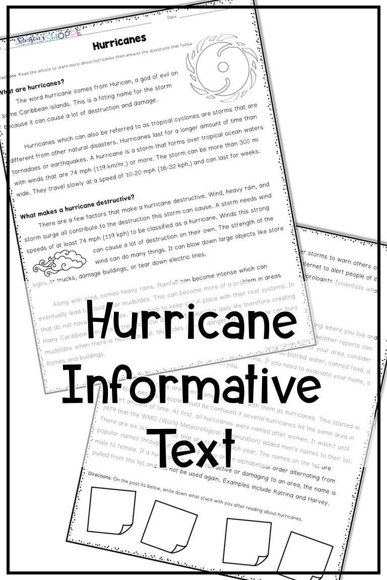 Natural Disasters Worksheets For Kindergarten