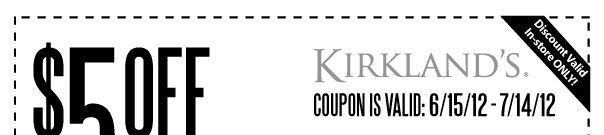 Kirkland S Home Instore Coupons Rock When You Join Their Email Love 25 Green Tag Clearance Sales Kirklands Tech Company Logos Company Logo