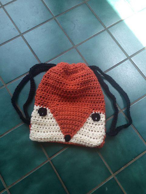 Ravelry: Fox Drawstring Bag pattern by Rilla Edwards | Crochet ...