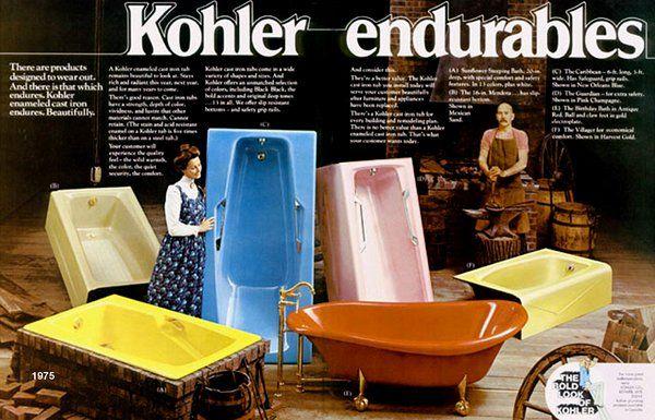 Colorful Kohler bathroom suites (1967 & 1975 | Pinterest | Kohler ...