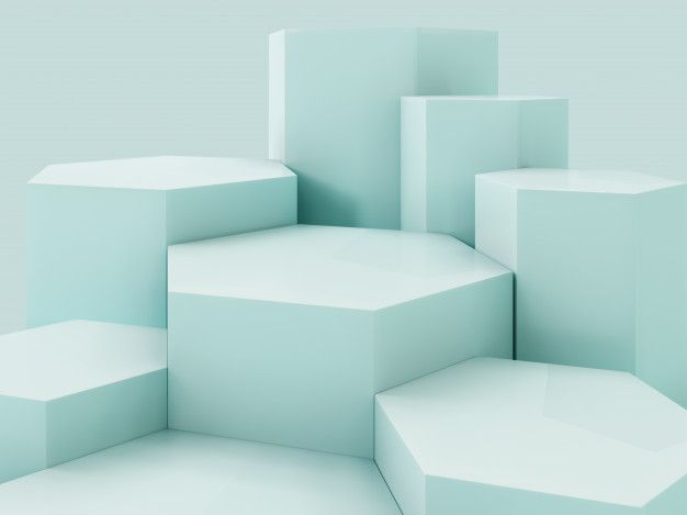Lihgt green product display podium, abstract background