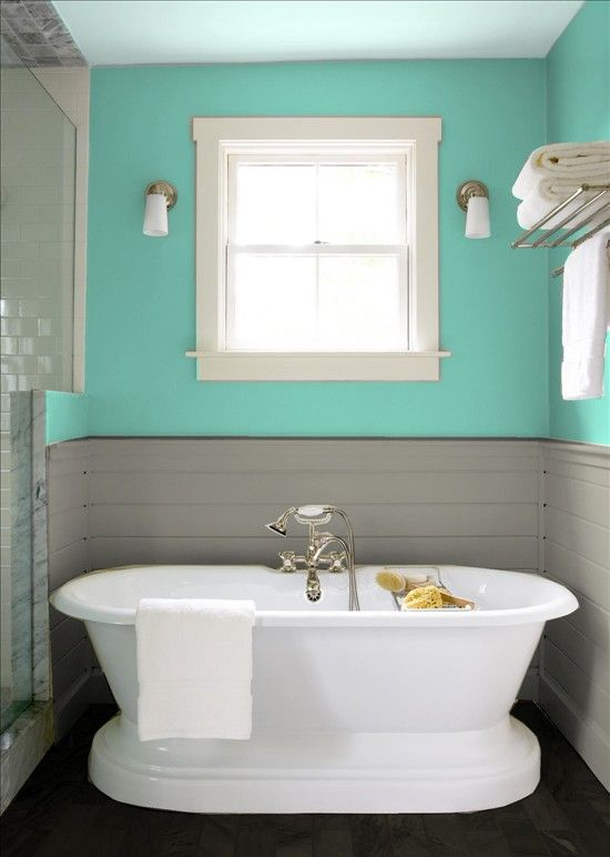 Teal and grey pretty blue things for the apartment for Teal and gray bathroom ideas