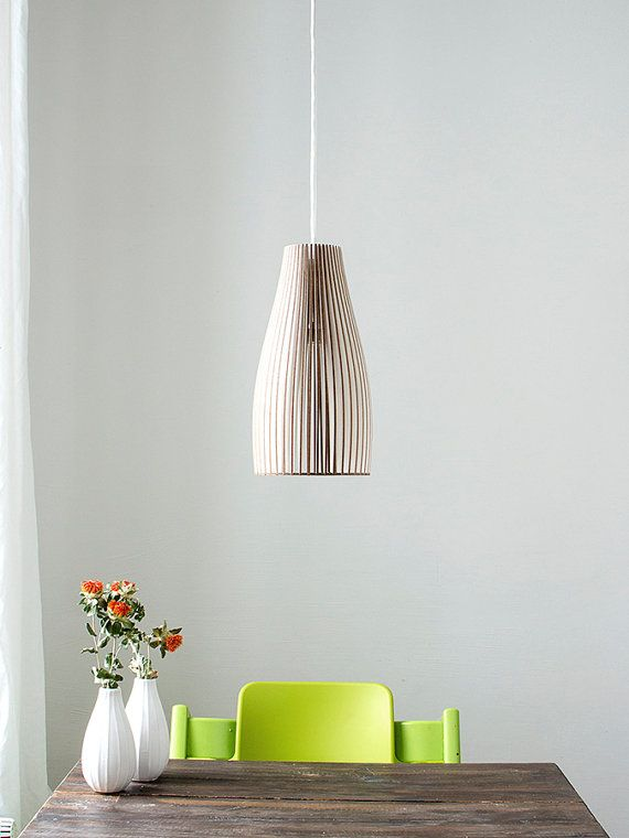 Ena   wooden hanging lamp by IUMIDESIGN on Etsy, €115.00