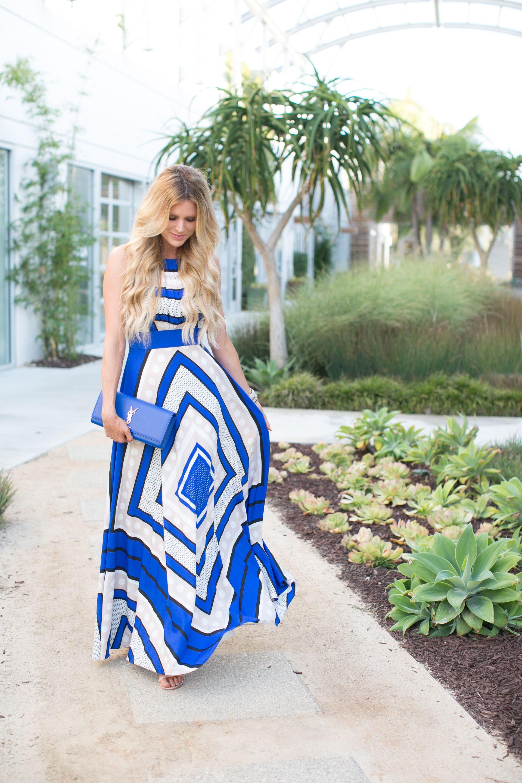 8e4958dd6b7 Eliza J Scarf Print Maxi Dress Blue