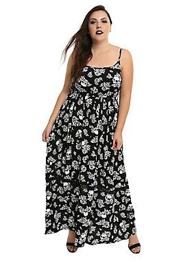 d6a6ce3e55 Floral Skull, List Style, Plus Size Maxi Dresses, Skull Print, Hot Topic