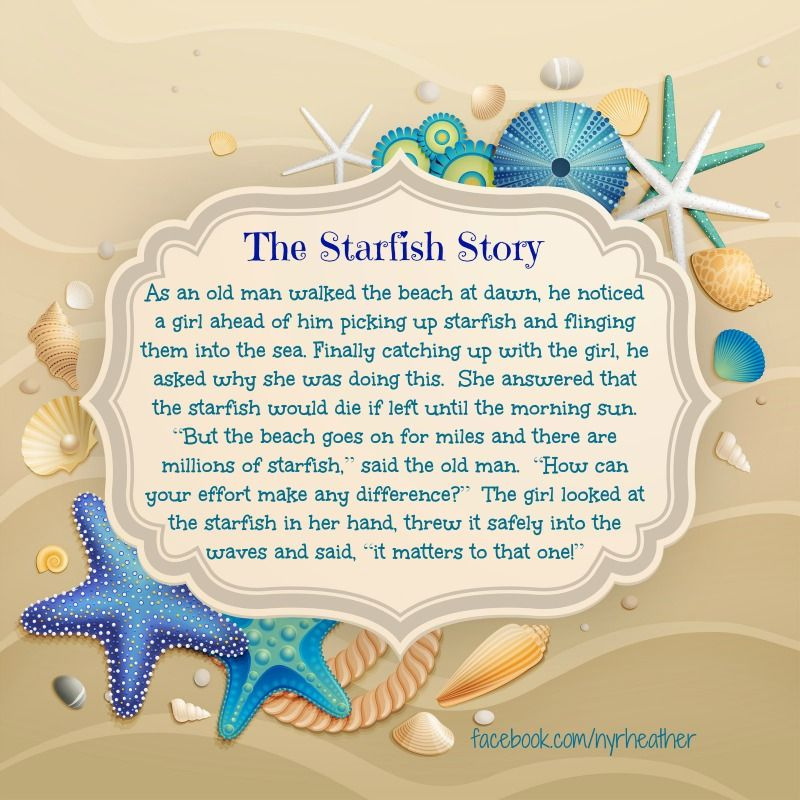 graphic relating to Starfish Story Printable called Pin upon Are living in the direction of Create a Variation