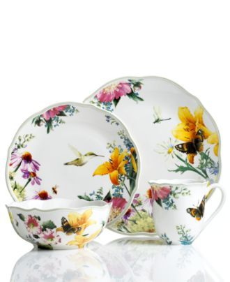 Lenox Dinnerware Floral Meadow Medley Collection - Casual Dinnerware - Dining u0026 Entertaining - Macyu0027s  sc 1 st  Pinterest & Lenox Dinnerware Floral Meadow Medley Collection - Casual ...