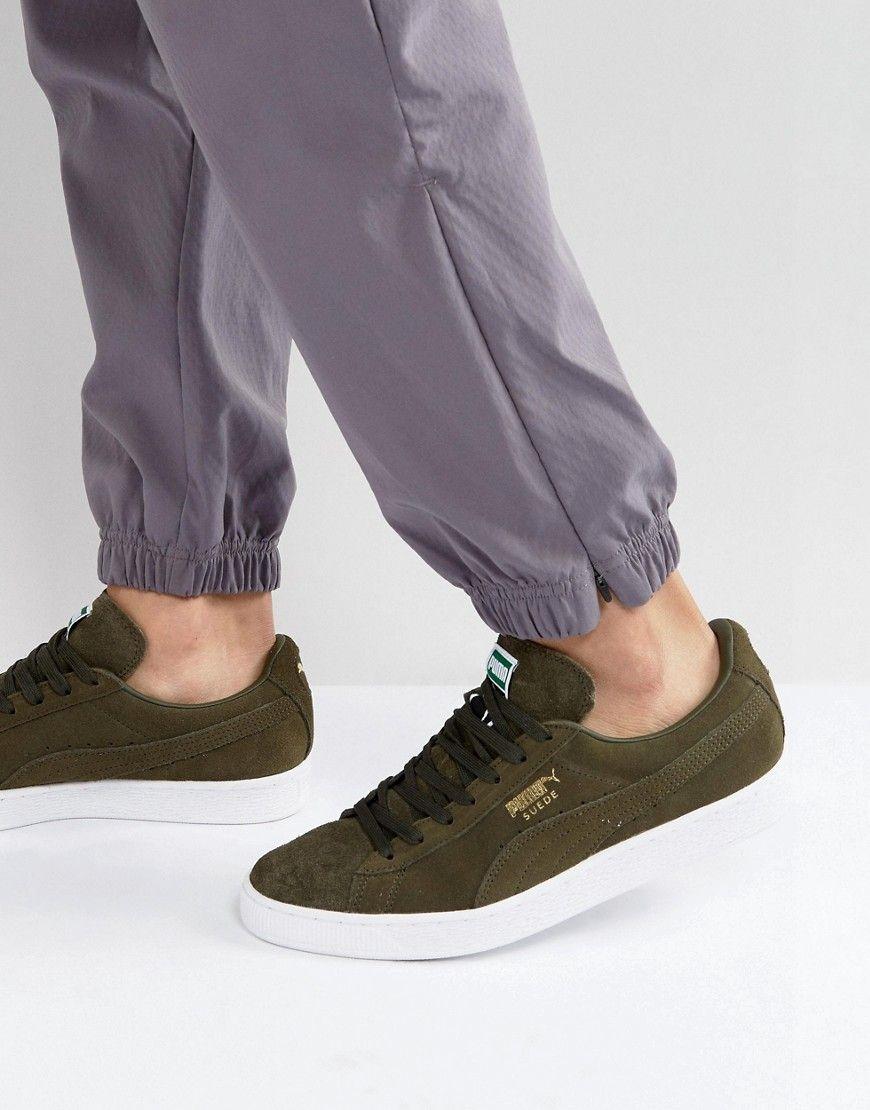db8f32b27fce PUMA SUEDE CLASSIC SNEAKERS IN GREEN 35656865 - GREEN.  puma  shoes ...