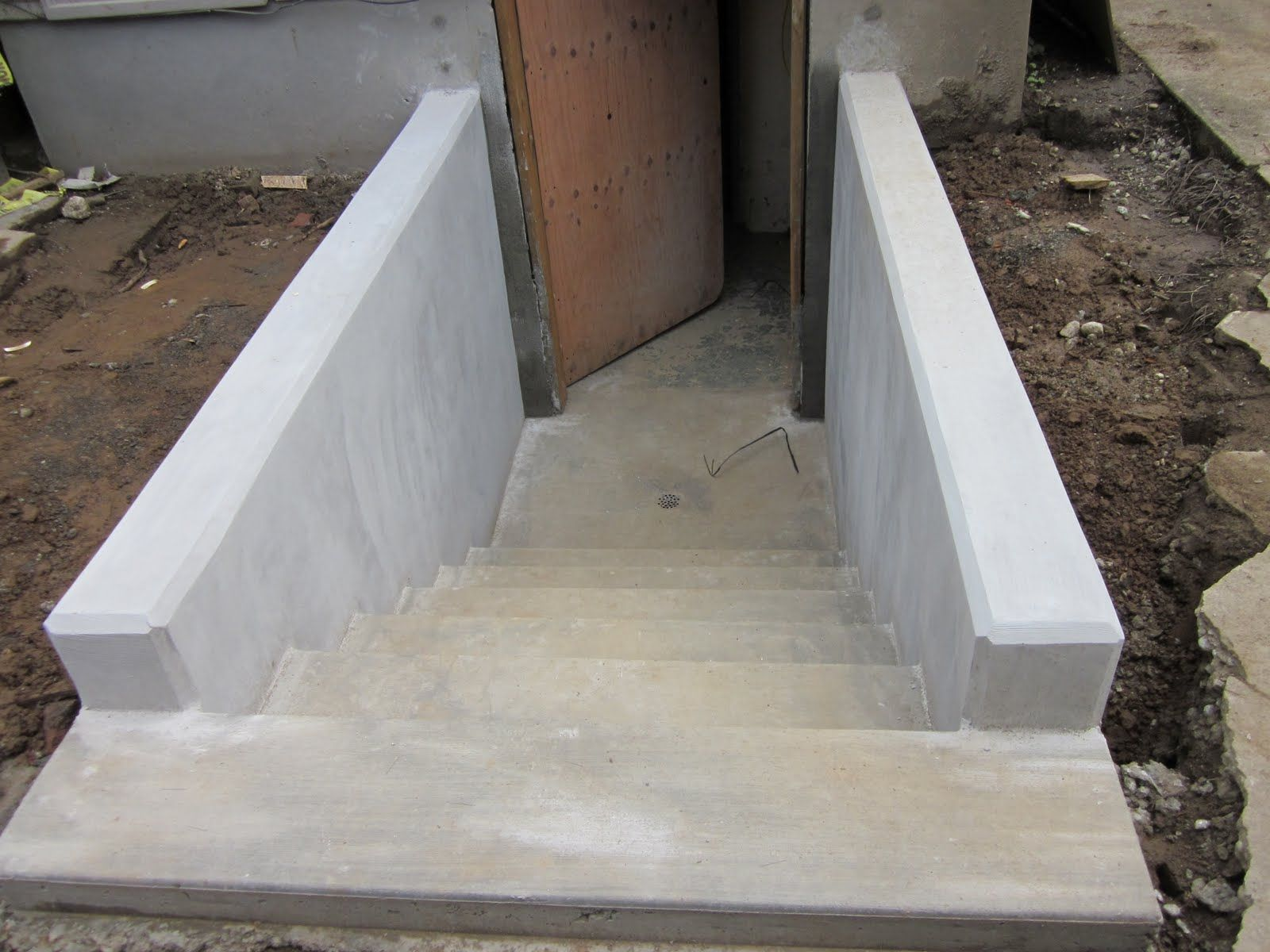 Best Cement Stairs Done Basement Stairs Basement Entrance 640 x 480