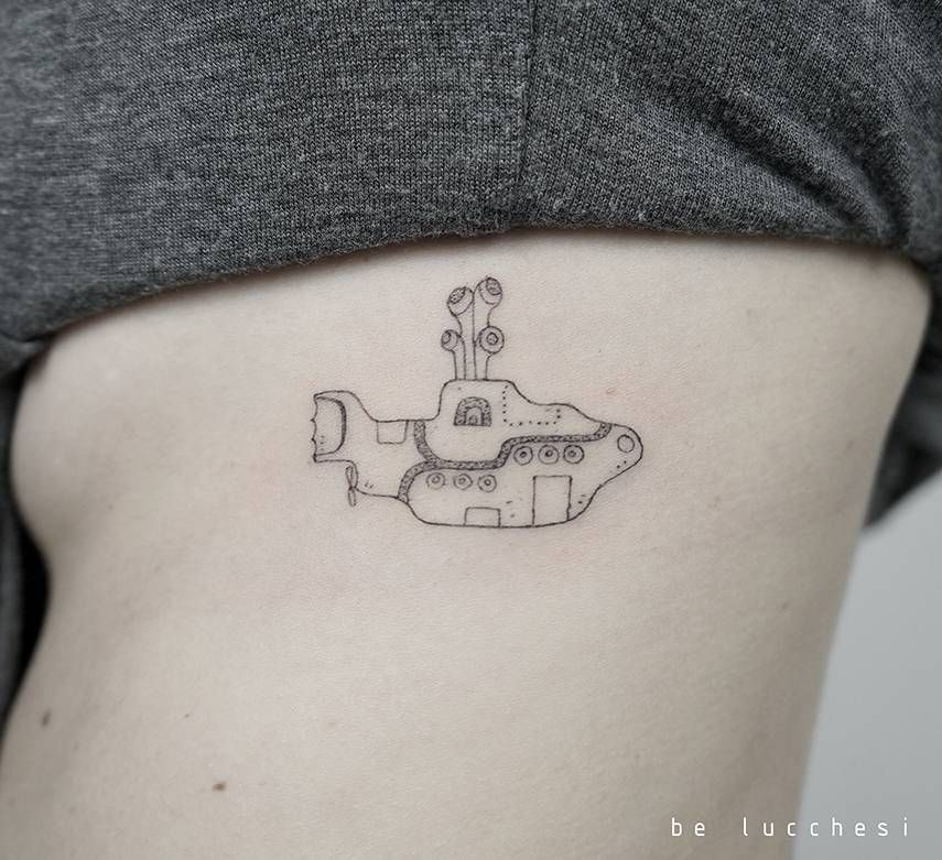 Small Tattoo Yellow: Beatles Tattoos, Beatles Inspired