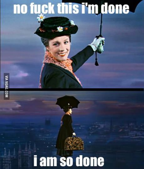 Sometimes a bad day makes me feel this way. #marypoppins