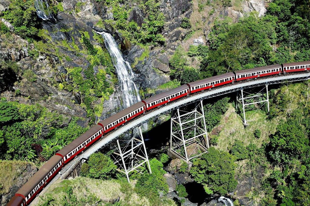 Ride The Historic Kuranda Scenic Railway Australia Train Rides Train Train Route