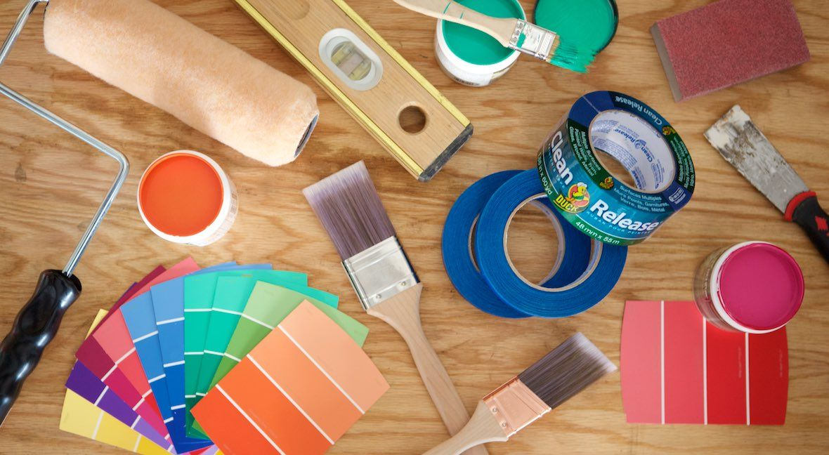 Best Practices For Beginner Painters Duck Brand Diy Paint Projects Tape Painting Diy Activities
