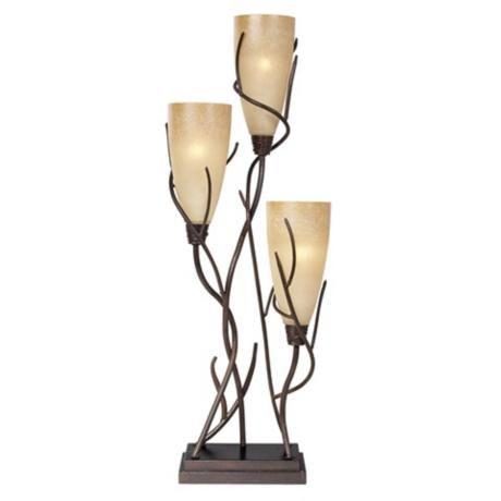 El Dorado 3 Light Uplight Table Lamp H1650 Lampsplus Com In 2021 Table Lamp Lamp Rustic Lamps