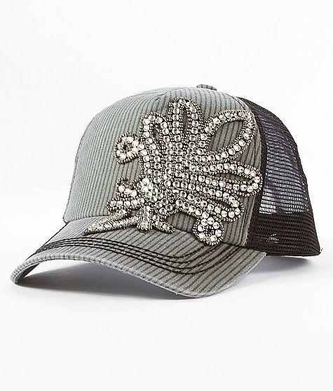 Olive   Pique Rhinestone Trucker Hat  fa7abf5e1c4