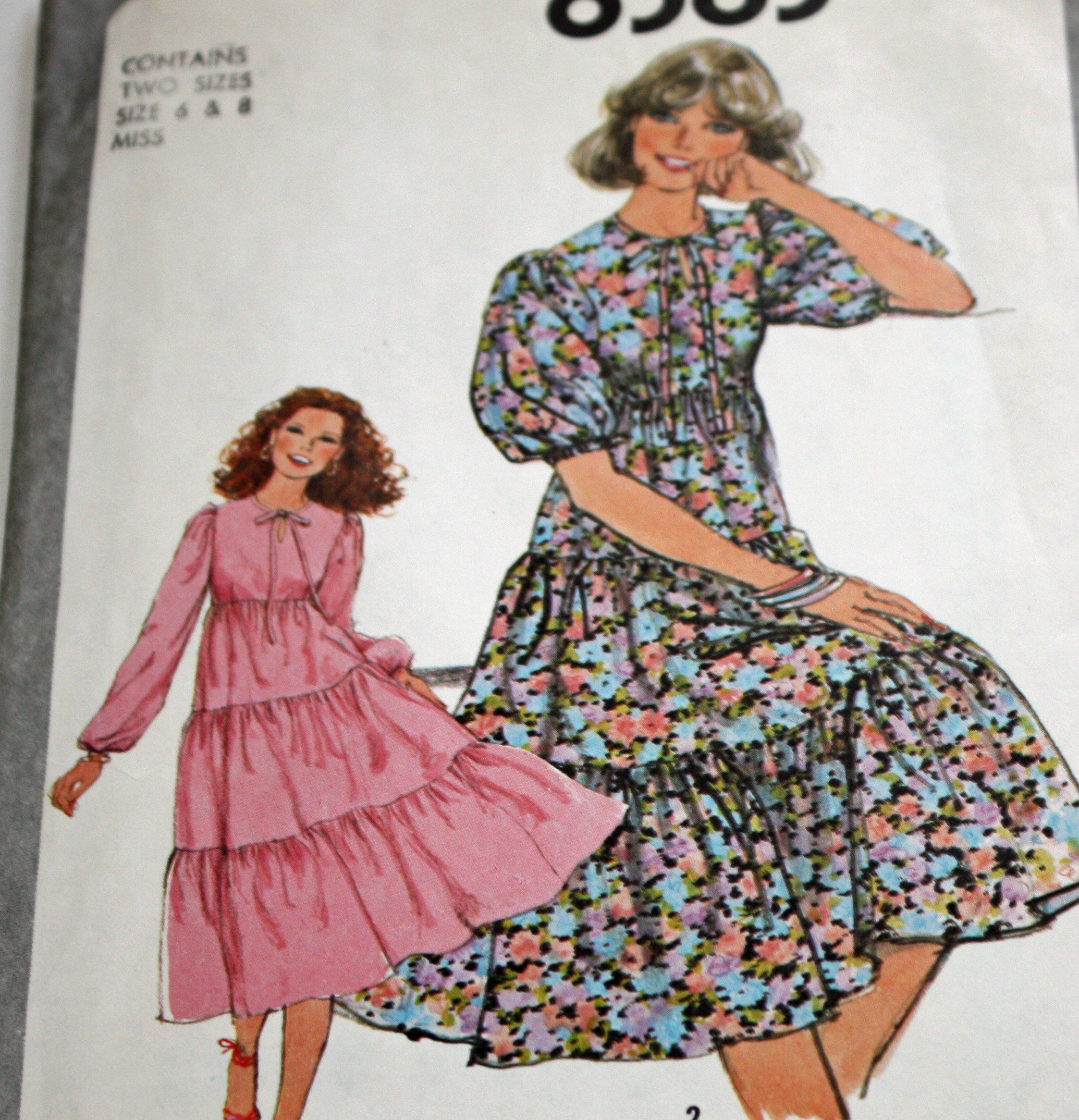 Vintage 1970s Sewing Pattern Simplicity 8383 Misses Etsy 1970s Sewing Patterns Sewing Patterns Simplicity Sewing Patterns