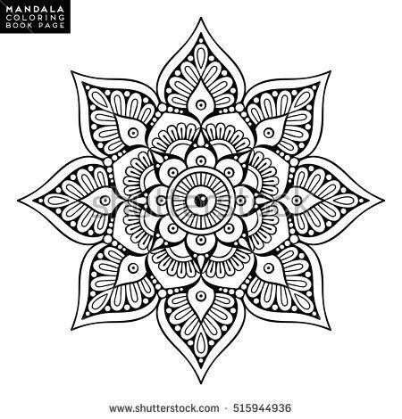 mandala vector floral flower oriental coloring book page outline template christmas indian wedding - Christmas Mandalas Coloring Book