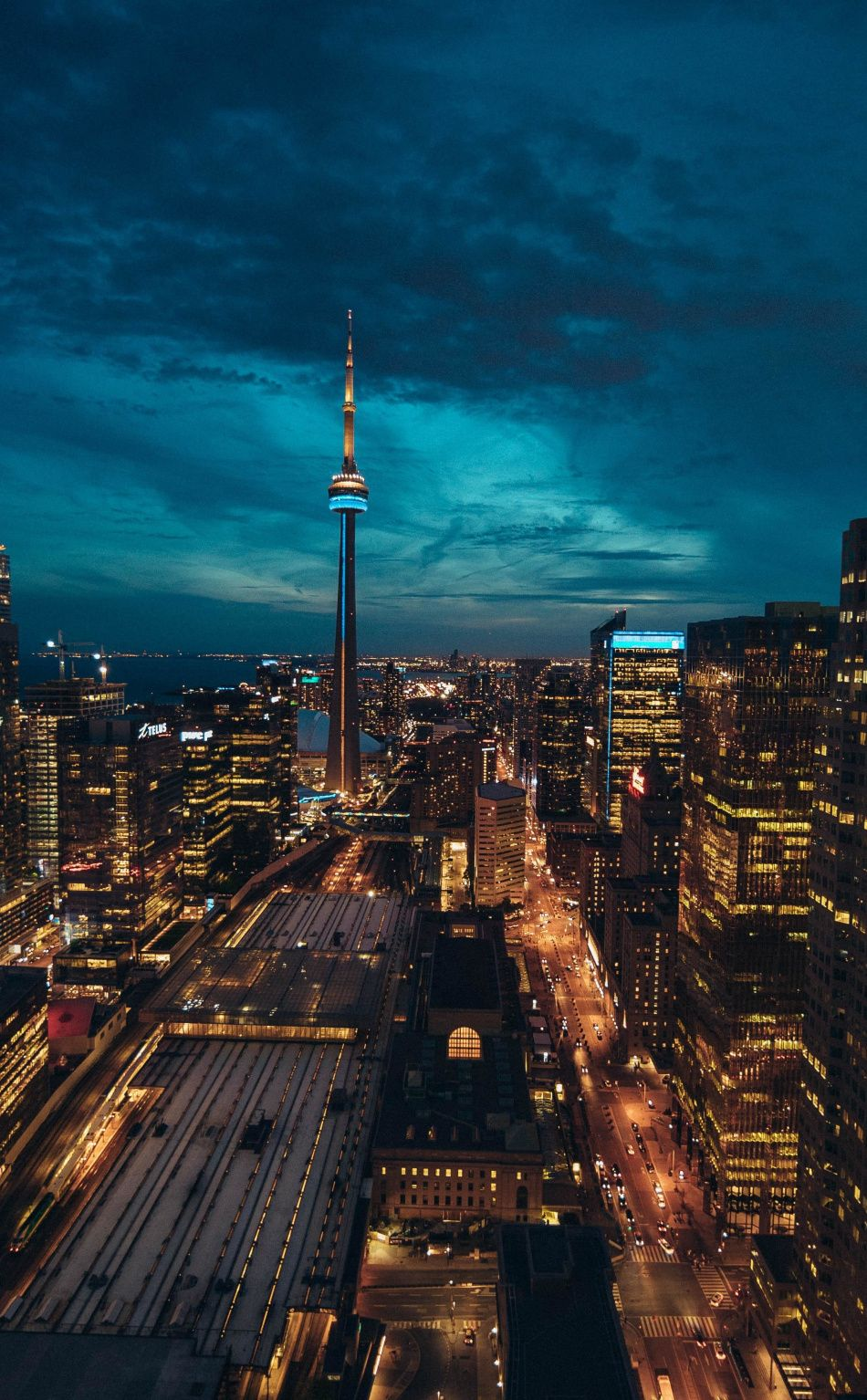 950x1534 Toronto Cityscape Buildings Night Wallpaper Canada Photography Toronto Pictures Vancouver Canada Photography