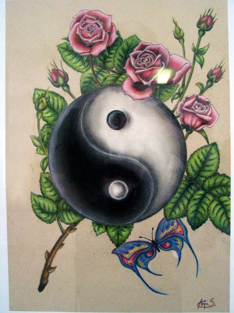 jing jang by anjasp3  Yin Yang  Pinterest  Yin yang