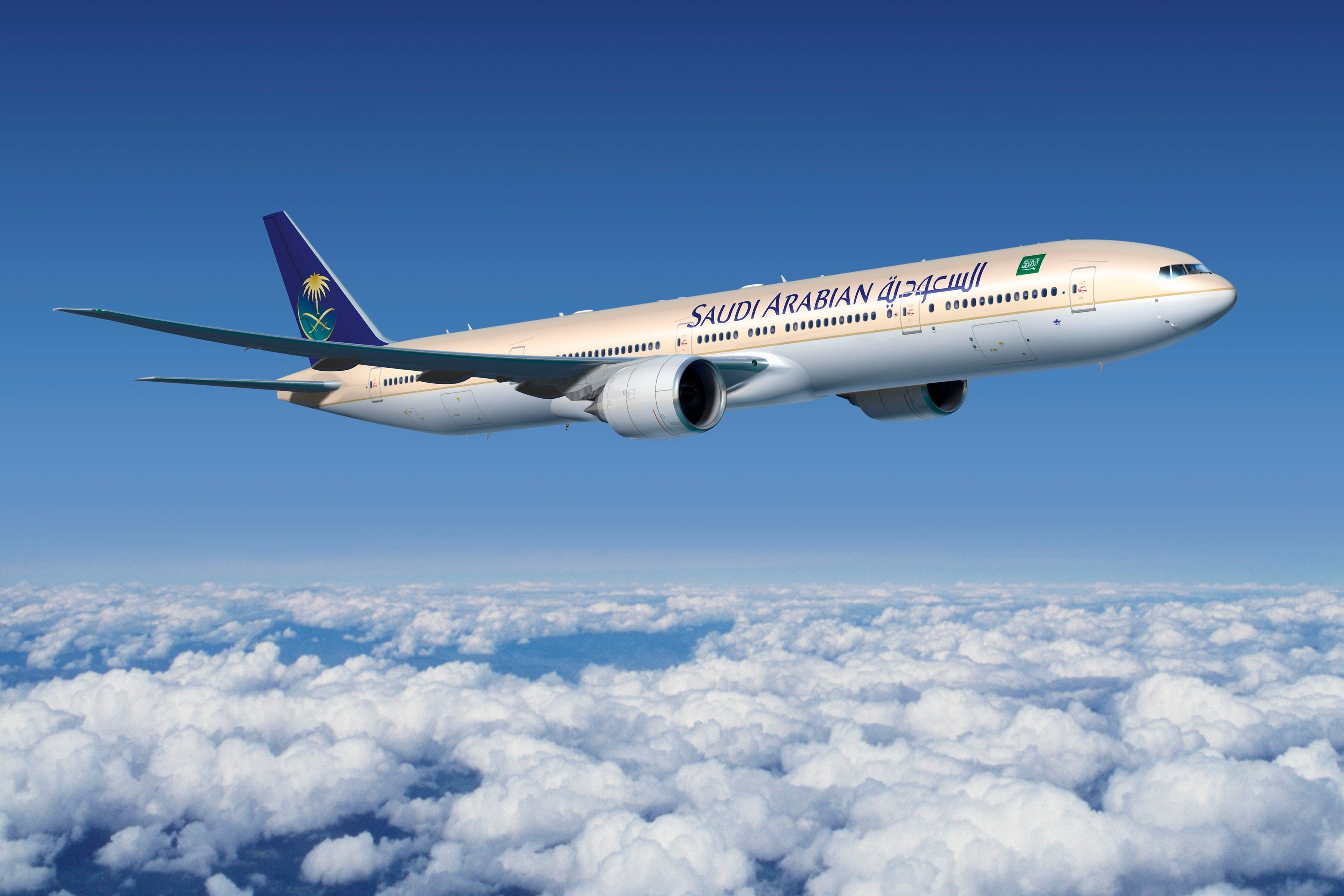 السعودية تتيح لضيوفها إصدار بطاقة صعود الطائرة قبل موعد المغادرة بـ 48 ساعة Boeing 777 Arabia Airlines Boeing Aircraft