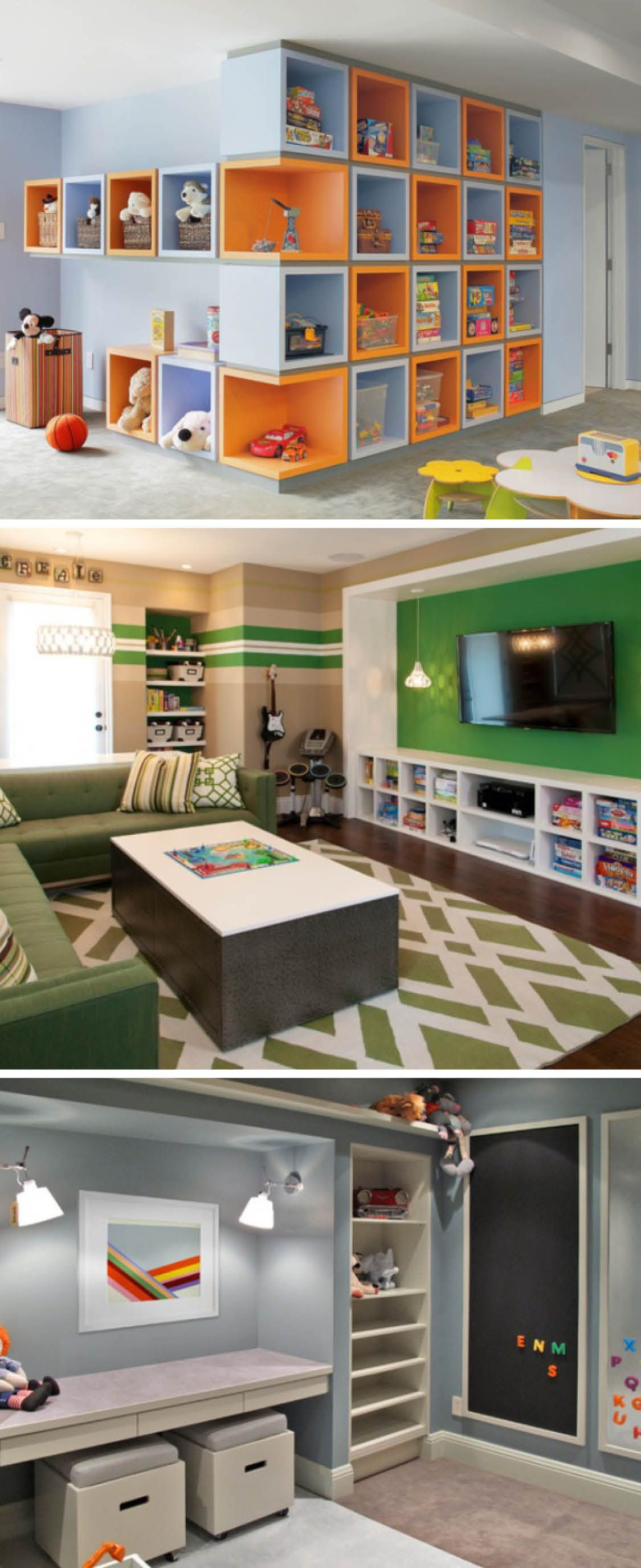 Living Room Playroom Combo Small Spaces