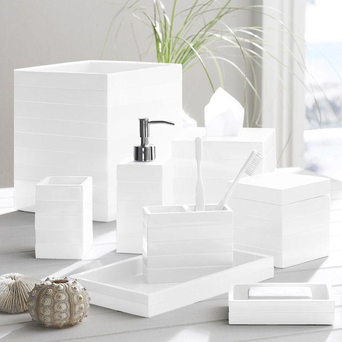 kassatex cabana bathroom accessory tray reviews wayfair - Bathroom Accessories Vanity Tray