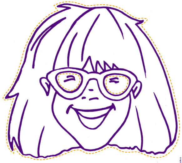 librarianism chronicles junie b jones mask - Junie B Jones Coloring Pages