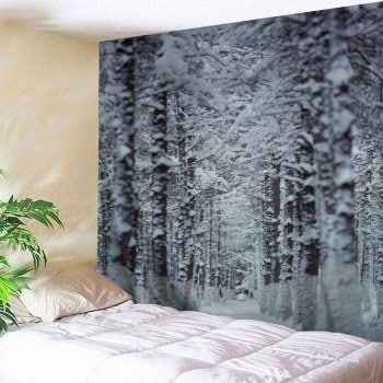 Christmas Snow Forest Path Wall Decor Tapestry Shop Pinterest
