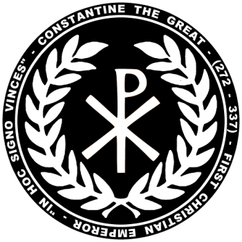 Features The Symbol Of The Chi Rho The Symbol Under Which Constantine Fought Under Shown On The Back And Front Constantine The Great Empire Logo Empire Tattoo