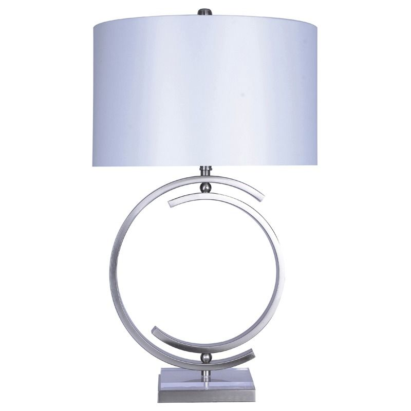 Nickel Acrylic Circle Table Lamp Weekends Only Furniture
