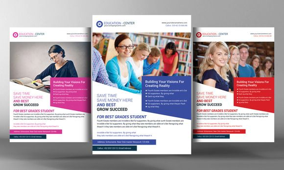 University/College Study Flyer By Business Templates On
