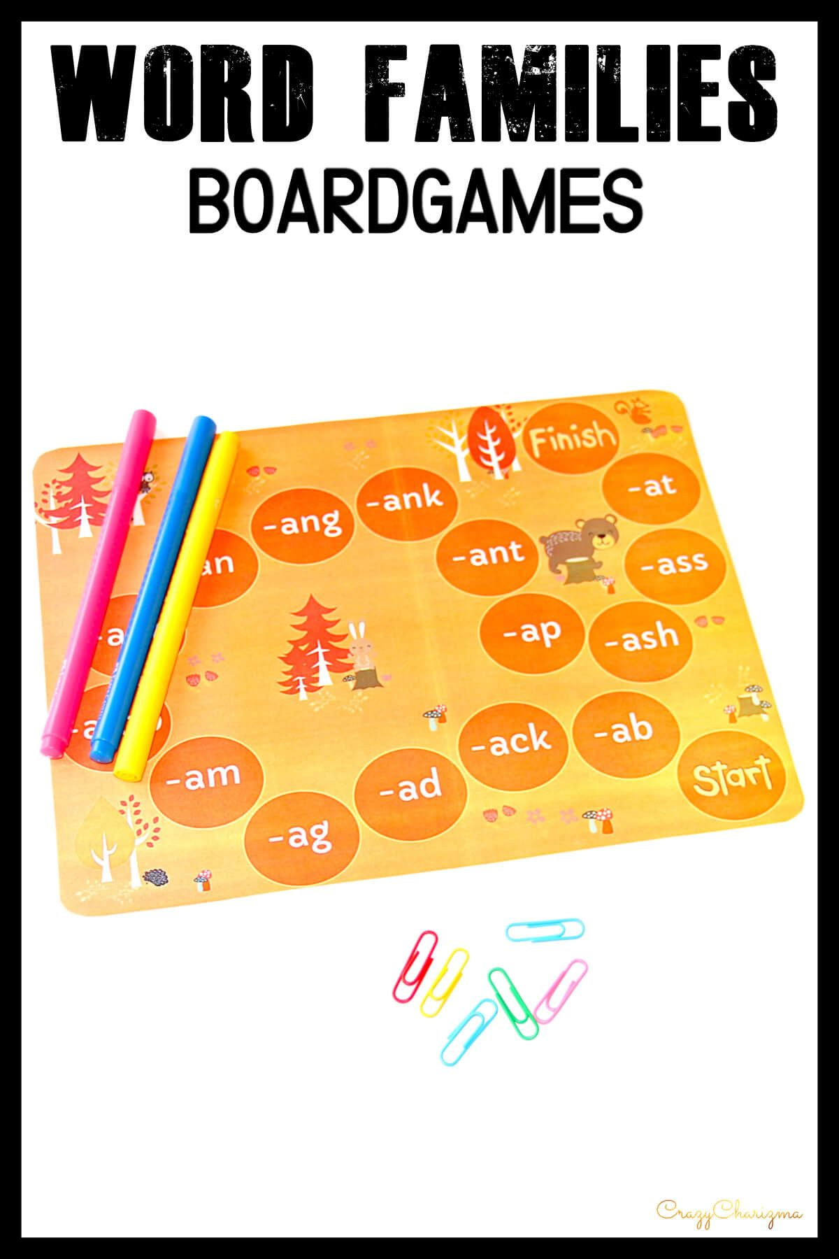 5 English Worksheets For Kindergarten Word Families Games