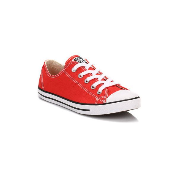 f3ec173dfc19 Converse Womens Carnival Red Dainty All Star Trainers Shoes (Trainers)  ( 68) ❤