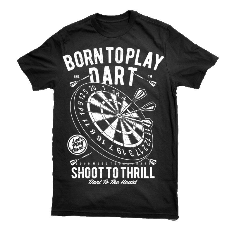 Born To Play Dart T-shirt template Футболки Pinterest Play darts - t shirt template