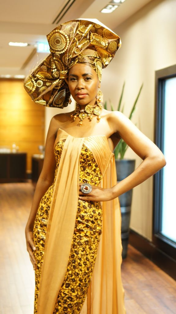Attractive Yellow Sweetheart Traditional African Wedding Dress ...