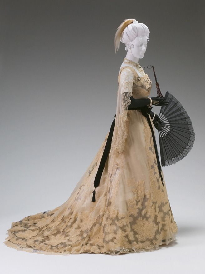 Historiful Evening Dress Designed By Charles Frederick Worth
