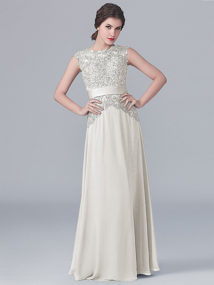 Lace and Chiffon Dress Plus and Petite sizes available
